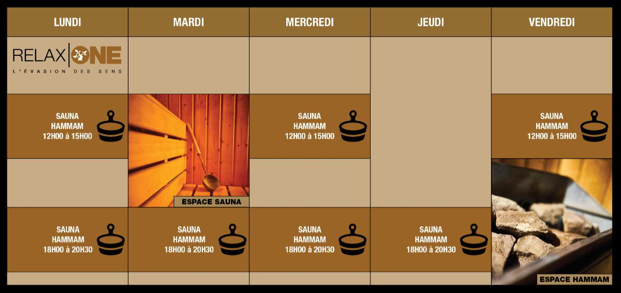 Planning Sauna/Hammam